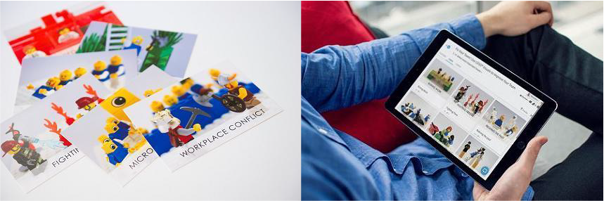 A deck card using LEGO® SERIOUS PLAY® and powered by Stormz